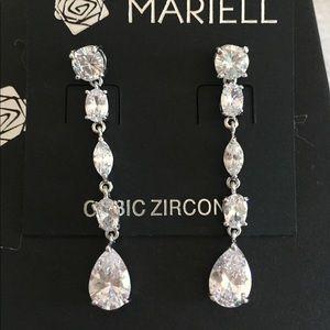 "Mariell Jewelry - Brand new ""Mariell"" Cubic Zirconia earrings"
